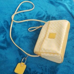 Yellow LC monogram shoulder bag